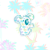 Holographic Palm Koala Sticker