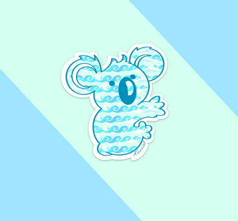 Wavy Coast Koala Sticker