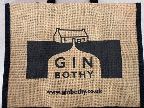 Gin Bothy Hessian Bag