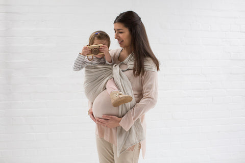 Carrying While Pregnant Babywearing With Bump In A Ring Sling