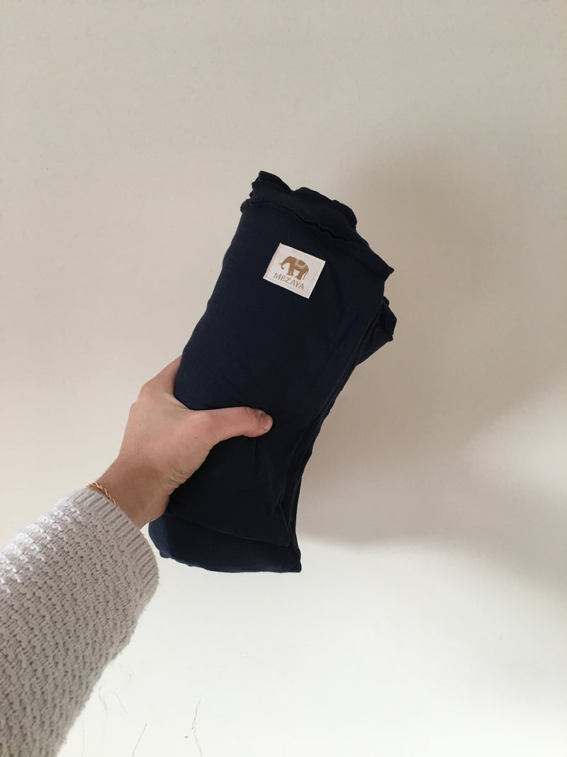 The Newborn Wrap - NAVY, - Mezaya Baby