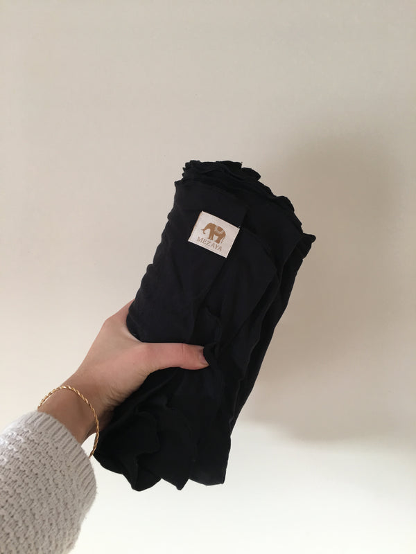 The Newborn Wrap - BLACK, - Mezaya Baby