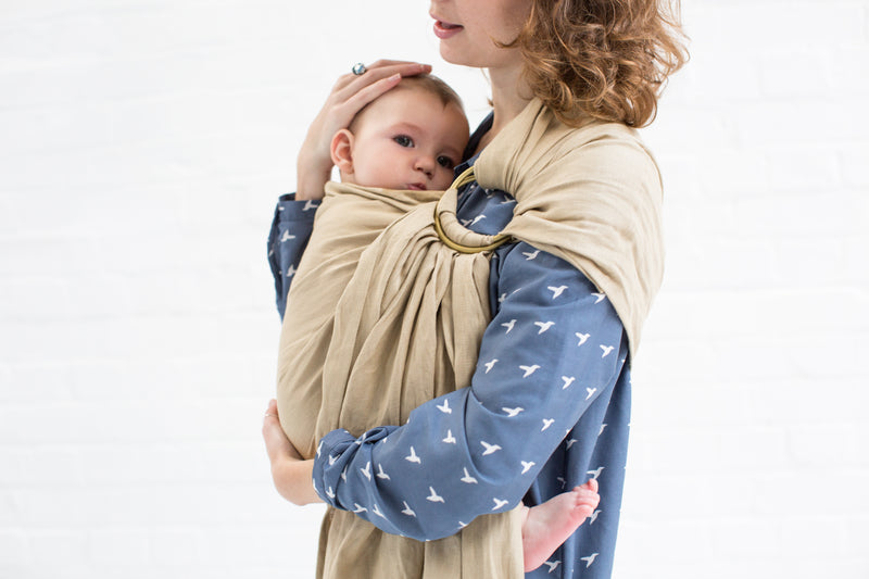 DOUBLE LAYERED SLINGS (Linen), - Mezaya Baby