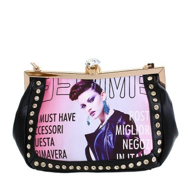 Purse* Black VIntage Clutch Bag