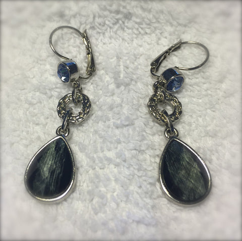 Lia Sophia Semi Precious Stone Drop Earrings