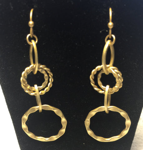 lia Sophia Gold toned small multi-hoop earrings