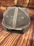 "White glitter "" T-Ball Mom "" design on a Distressed mesh back Grey Trucker Cap"