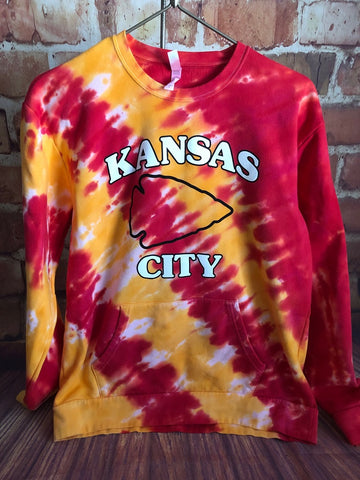 Tie Dyed Kansas City Crew Neck Sweatshirt Shirt