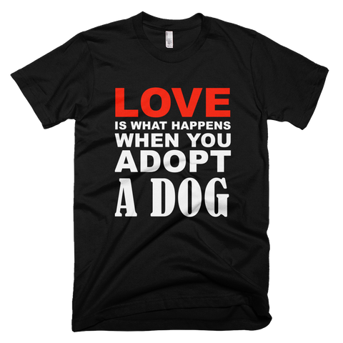 Love Adopted Dogs Black