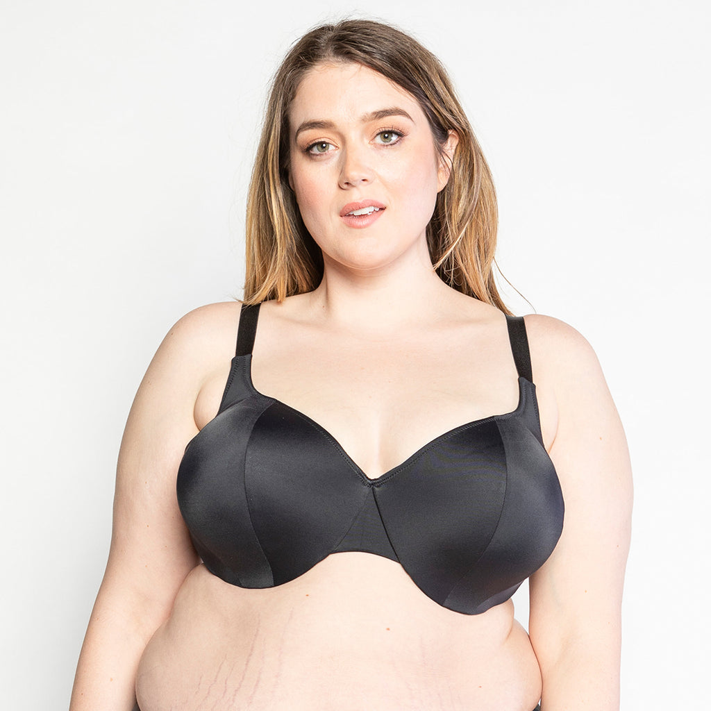 Trusst Brands | Plus Size Bra Support | Naomi Bra Black 38I