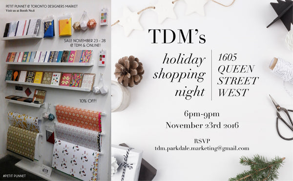 It's sale time again! TDM Shopping Night & Black Friday/Cyber Monday sale!