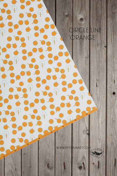 Circle Line 'Orange' Wrapping Paper - Pack of 2