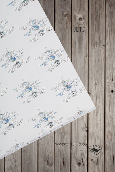 Graphic Series Wrapping Paper 'Jets' - Pack of 2
