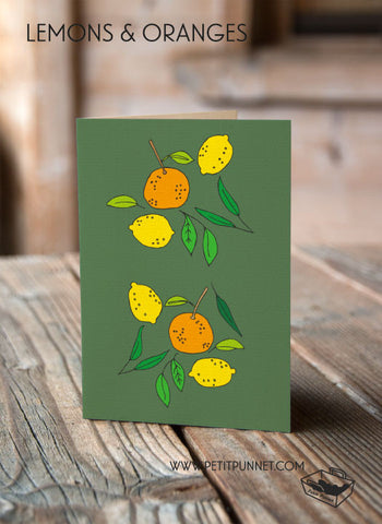 Lemons and Oranges Card
