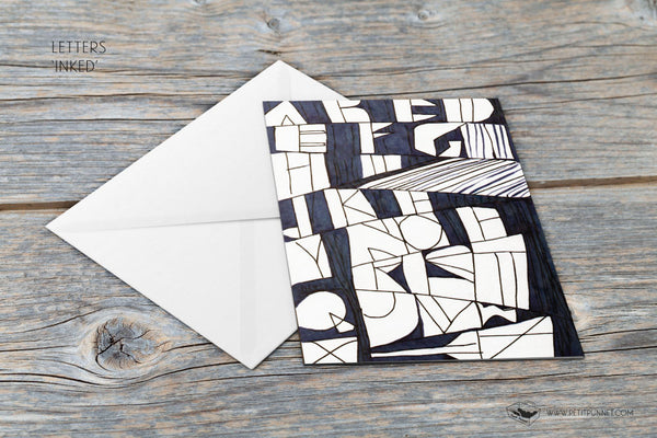 Letters 'Inked' Card