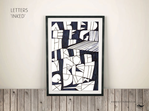 Petit Punnet 'Letters Inked' Poster