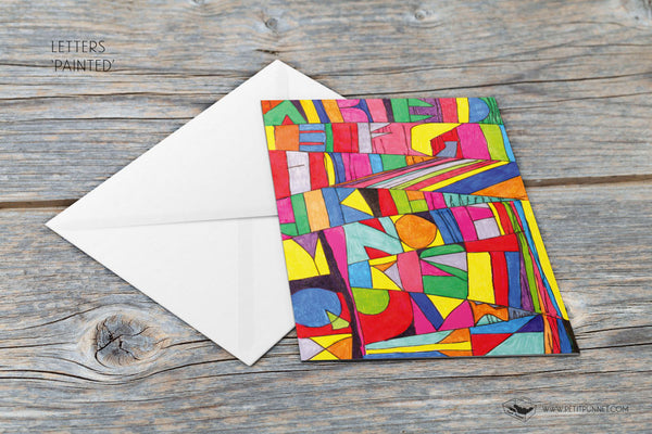Letters 'Painted' Card
