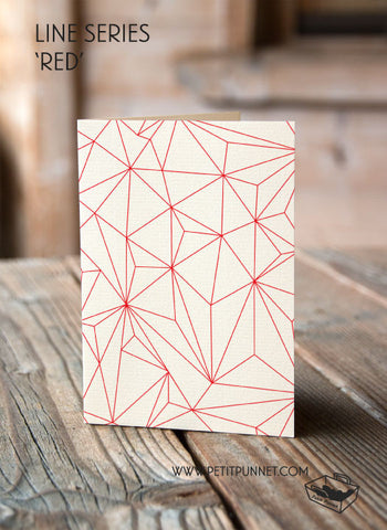 Line Series 'Red' Card