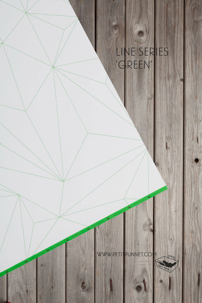 Line Series Wrapping Paper 'Green' - Pack of 2