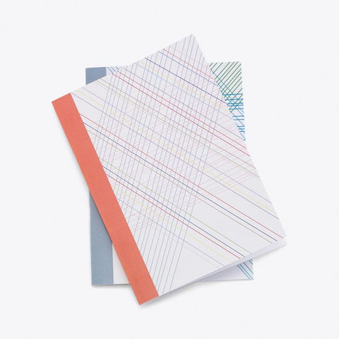 Quilted Line A5 Notebook, Set of 2