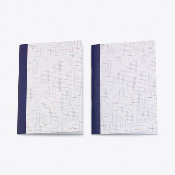 Isometric A5 Notebook, Set of 2