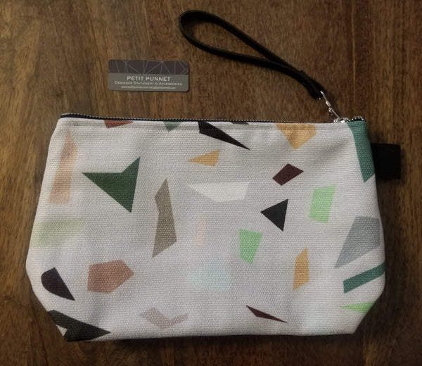 Geometric Pouches/Makeup Bags