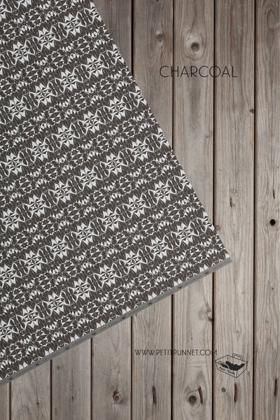 Polyhedron Series Wrapping Paper 'Charcoal' - Pack of 2