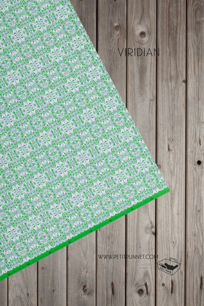 Polyhedron Series Wrapping Paper 'Viridian' - Pack of 2