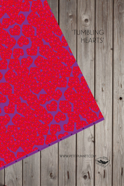 Tumbling Hearts Wrapping Paper - Pack of 2