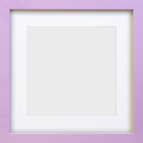 "Olympia Glossy Lilac Square Photo Frame 10x10"" For 7x7"" With Soft Cream Mount"
