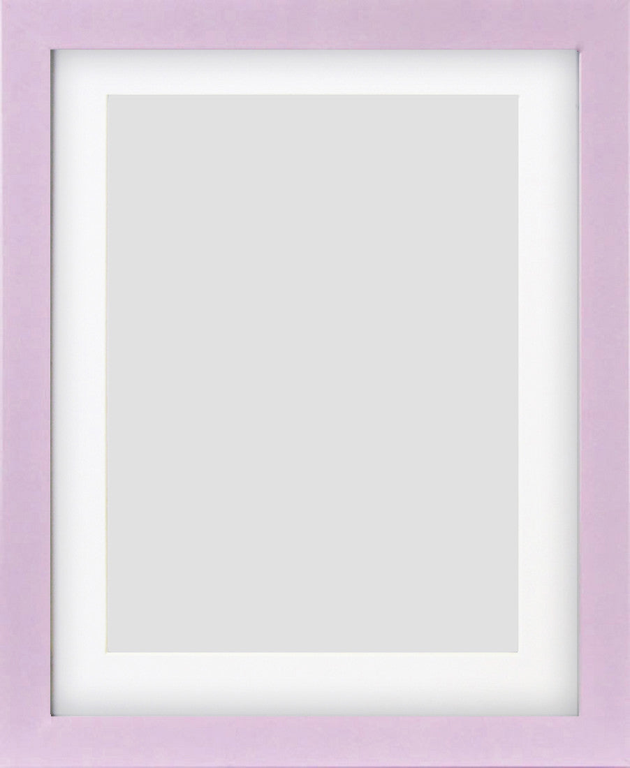 "Olympia Glossy Lilac Photo Frame 10x8"" For 8x6"" With Soft Cream Mount - photoframesandart"