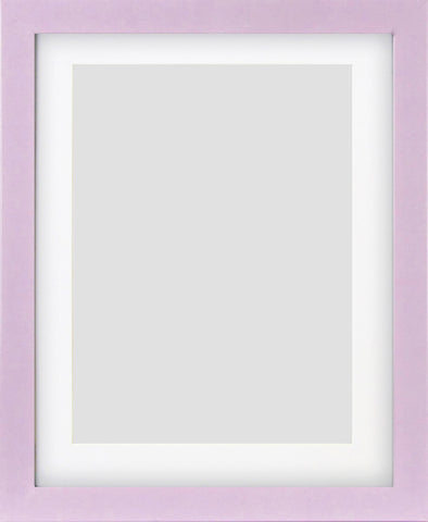 "Olympia Glossy Lilac Photo Frame 10x8"" For 8x6"" With Soft Cream Mount"