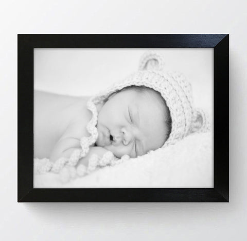 "Milano Black Photo Frame 12x10"" For 9x7"" With Soft Cream Mount"