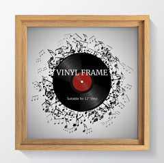 "Hoxton Oak Photo Frame Suitable for a 12"" Vinyl - photoframesandart"