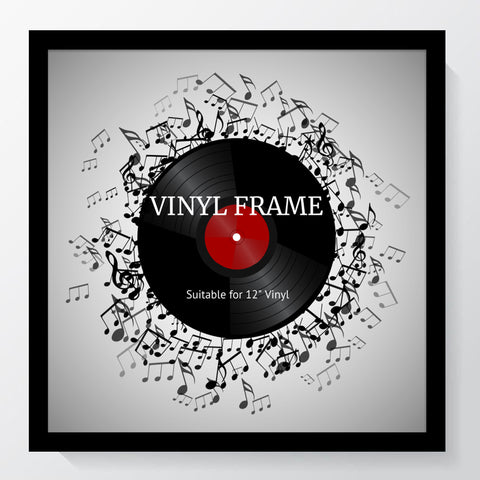 "Oxford Black Photo Frame Suitable for a 12"" Vinyl Album"