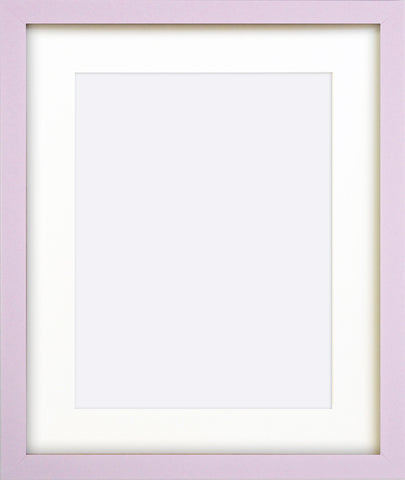 "Olympia Glossy Lilac Photo Frame 12x10"" For 9x7"" With Soft Cream Mount"