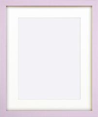 "Olympia Glossy Lilac Photo Frame 12x10"" For 9x7"" With Soft Cream Mount - photoframesandart"