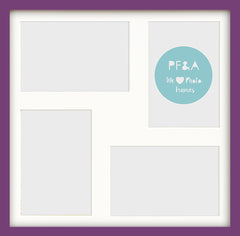 "Olympia Glossy Purple Photo Frame 12x12"" Multi - photoframesandart"