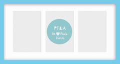 "Olympia Aqua Blue Photo Frame 21x11"" Multi With Soft Cream Mount - photoframesandart"