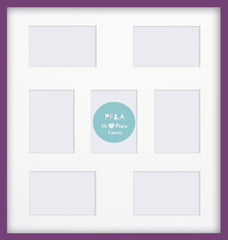 "Olympia Glossy Purple Photo Frame 22x19"" Multi With Soft Cream Mount - photoframesandart"