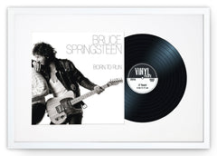 "12"" Vinyl LP Record and Album Cover White Frame with White Mount (25""x17"") - photoframesandart"