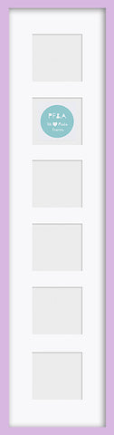 "Olympia Glossy Lilac Photo Frame 26x6"" For x6 3x3'' Multi With Soft Cream Mount"