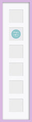 "Olympia Glossy Lilac Photo Frame 26x6"" Multi - photoframesandart"