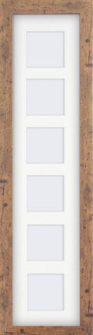 "Rustic Wood Effect Multi Photo Frame 26x6"" For x6 3x3"" With Soft Cream Mount"