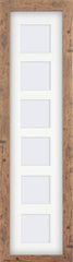 "Rustic Wood Effect Multi Photo Frame 26x6"" For x6 3x3"" With Soft Cream Mount - photoframesandart"