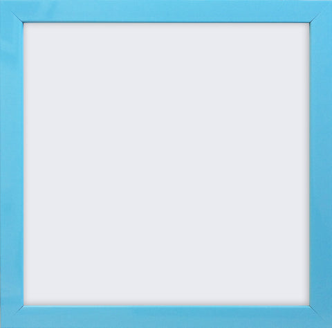 "Olympia Glossy Aqua Blue Square Photo Frame 4x4"" No Mount - photoframesandart"