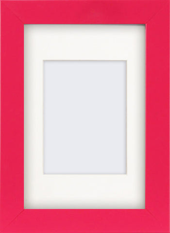 "Olympia Glossy Cerise Pink Photo Frame 6x4"" With Soft Cream Mount"