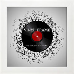 "Oxford White Photo Frame Suitable for a 7"" Vinyl Single"