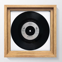 "Hoxton Oak Photo Frame Suitable for a 7"" Vinyl Single - photoframesandart"