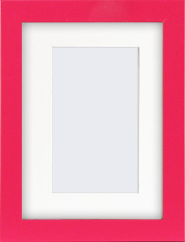 "Olympia Glossy Cerise Pink Photo Frame 7x5"" For 5x3"